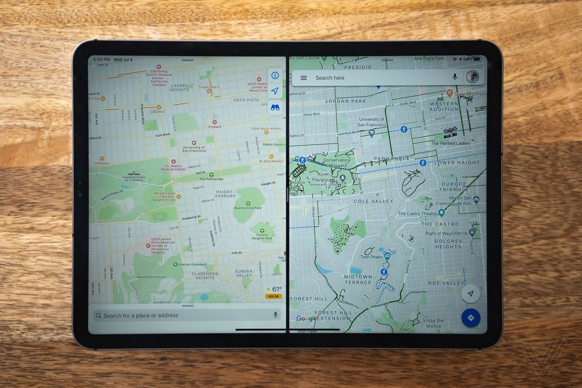 Apple Maps and Google Maps