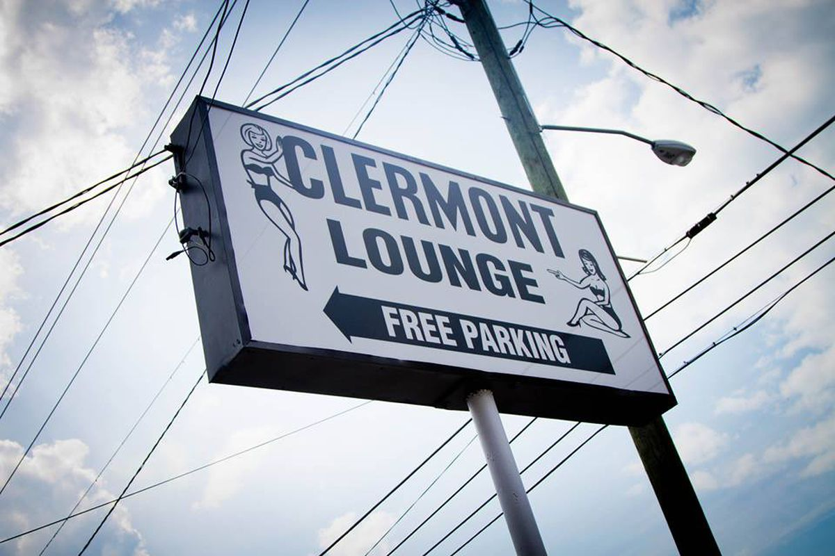 Signage at the Clermont Lounge.