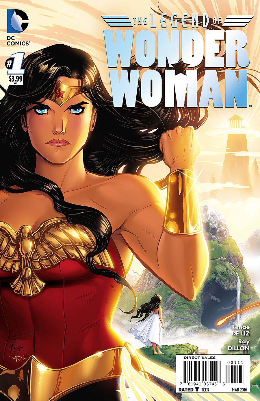 Wonder Woman raises her gauntlet on the cover of The Legend of Wonder Woman #1, DC Comics (2016).