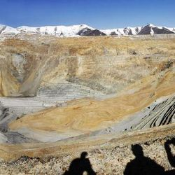 A panoramic of Kennecott's Bingham Canyon Mine.