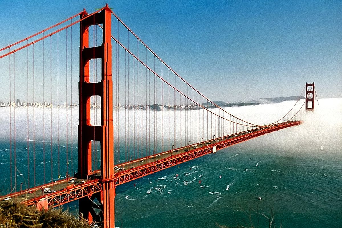 The Golden Gate Bridge is by far the most iconic structure in San Francisco  and one of the most photographed bridges in the world. The red suspension  bridge ...