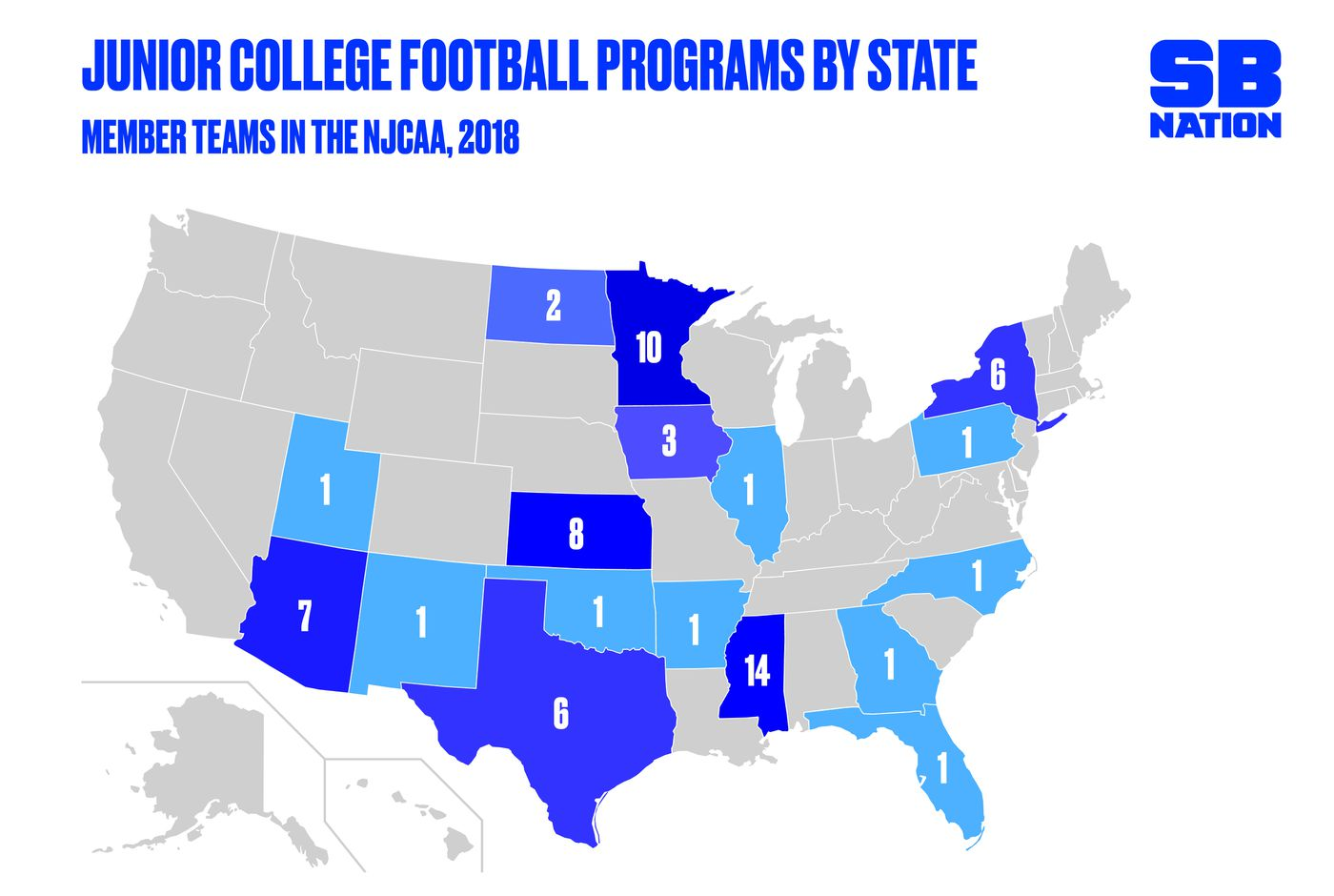 Professional Sports Teams By State Map.Juco Football Explained In 4 Minutes Sbnation Com