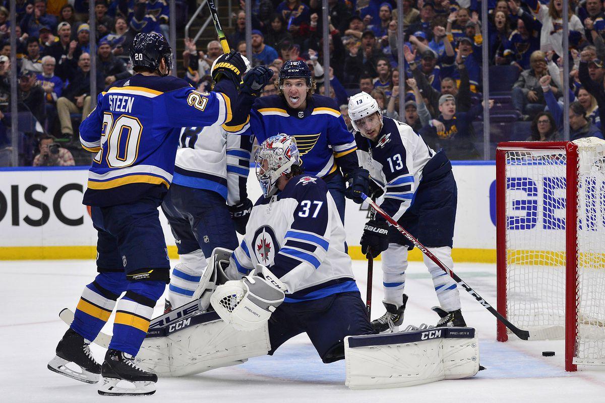 NHL: Stanley Cup Playoffs-Winnipeg Jets at St. Louis Blues