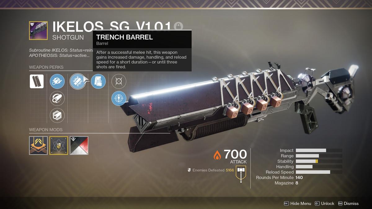 Destiny 2 Ikelos Shotgun