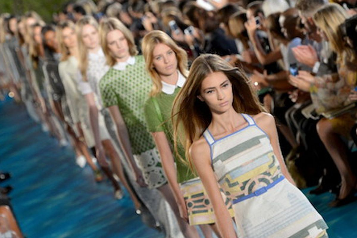 Tory Burch Spring 2014 via Getty Images