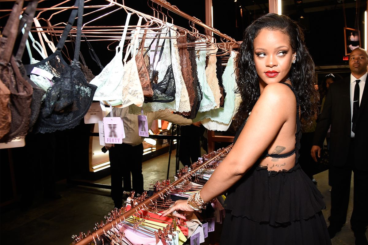ec0b95ac8460d4 Rihanna poses with lingerie from her Savage x Fenty line on May 10. Photo   Kevin Mazur Getty Images for Savage X Fenty