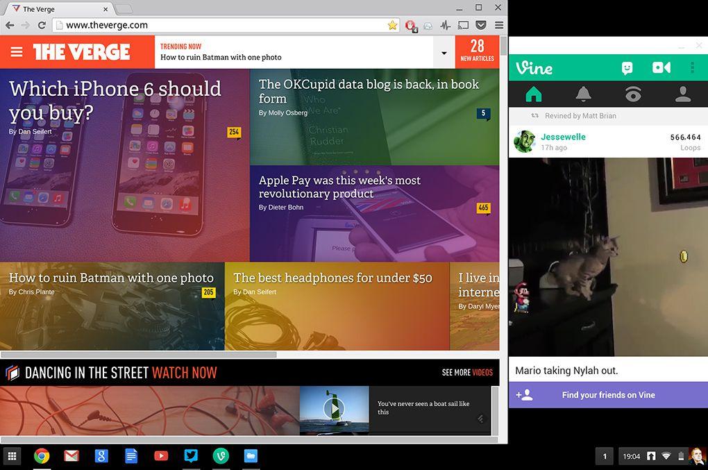android app chrome os screenshot
