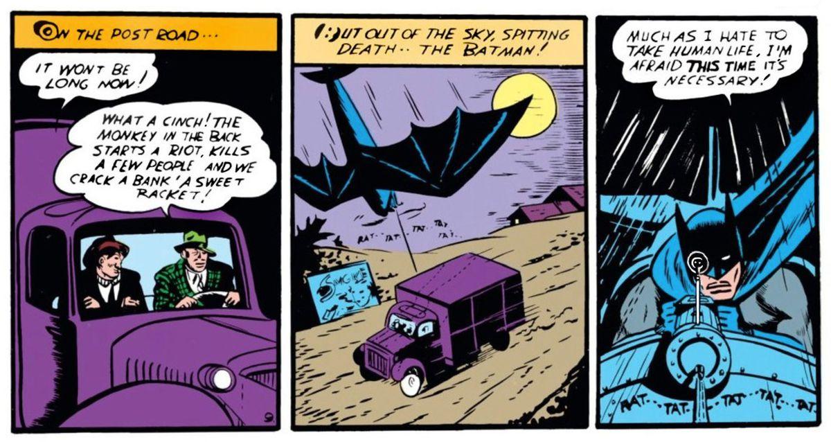From Batman #1, DC Comics (1940).