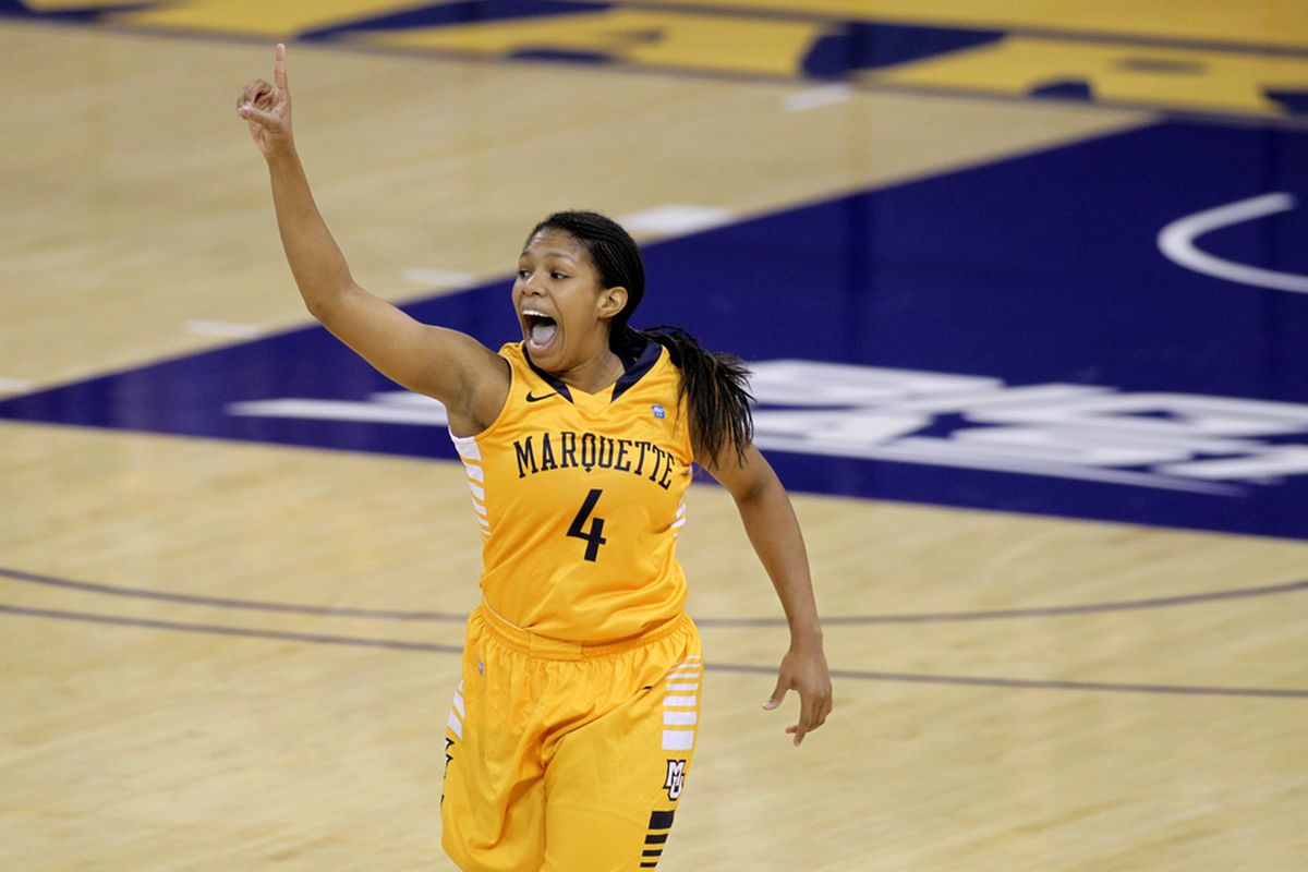 Consecutive three by Arlesia Morse sparked a Marquette rally that came up just short.