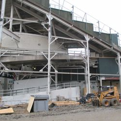 Another view of the back of the center-field bleachers from Waveland