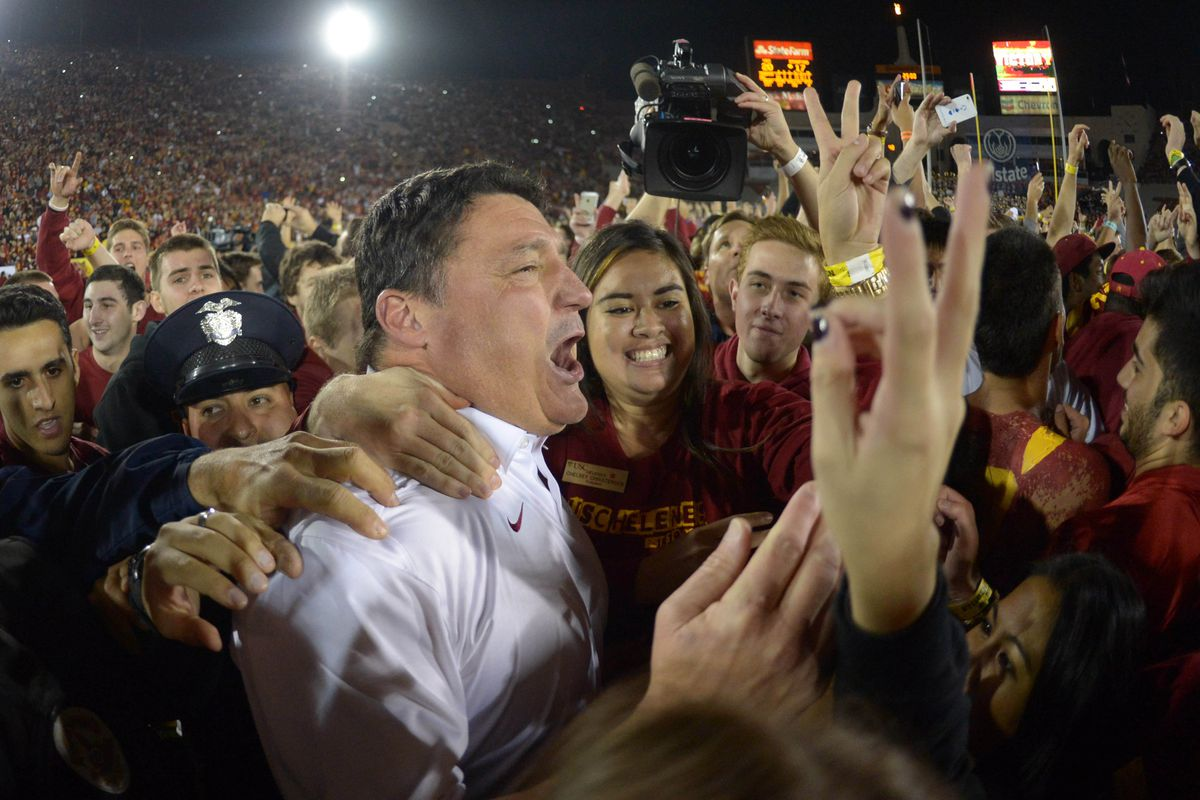 USC fans showed what storming the field is all about.