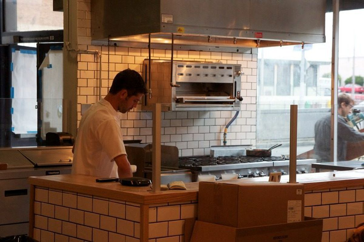 Chef Nick Adams in the kitchen at The Corner Store
