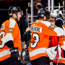 A win for his first start as a Flyer