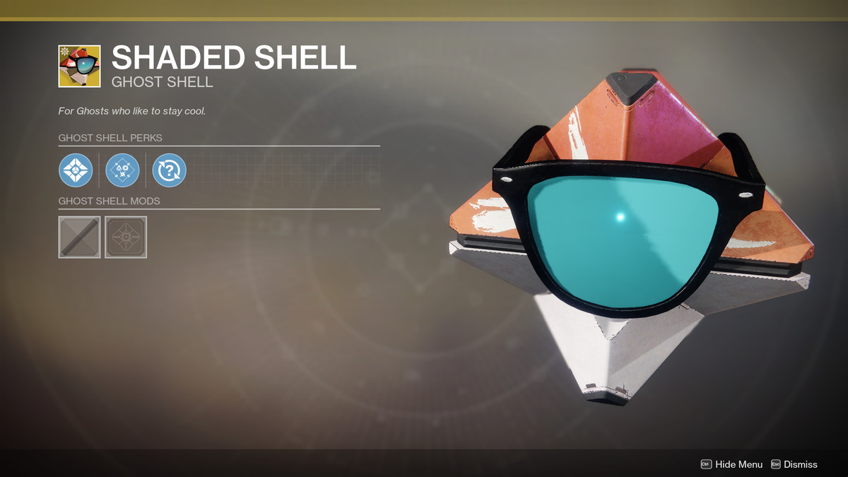 Shaded Shell Ghost shell Destiny 2