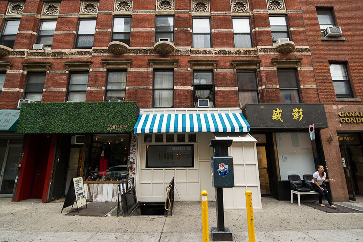 [The exterior of The Leadbelly on the Lower East Side]