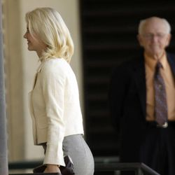 Elizabeth Smart arrives at federal court with her parents for the sentencing of Brian David Mitchell in Salt Lake City  Wednesday, May 25, 2011.