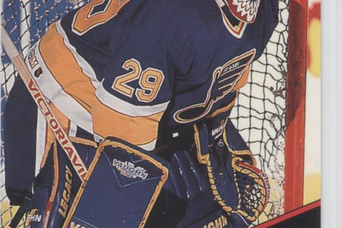 That is Jim Hrivnak. He is a goalie. Fast stats: 23 GP. 1 A. 2 PIM. 0.877 PCT. Left us for the IHL. Played in Vegas.