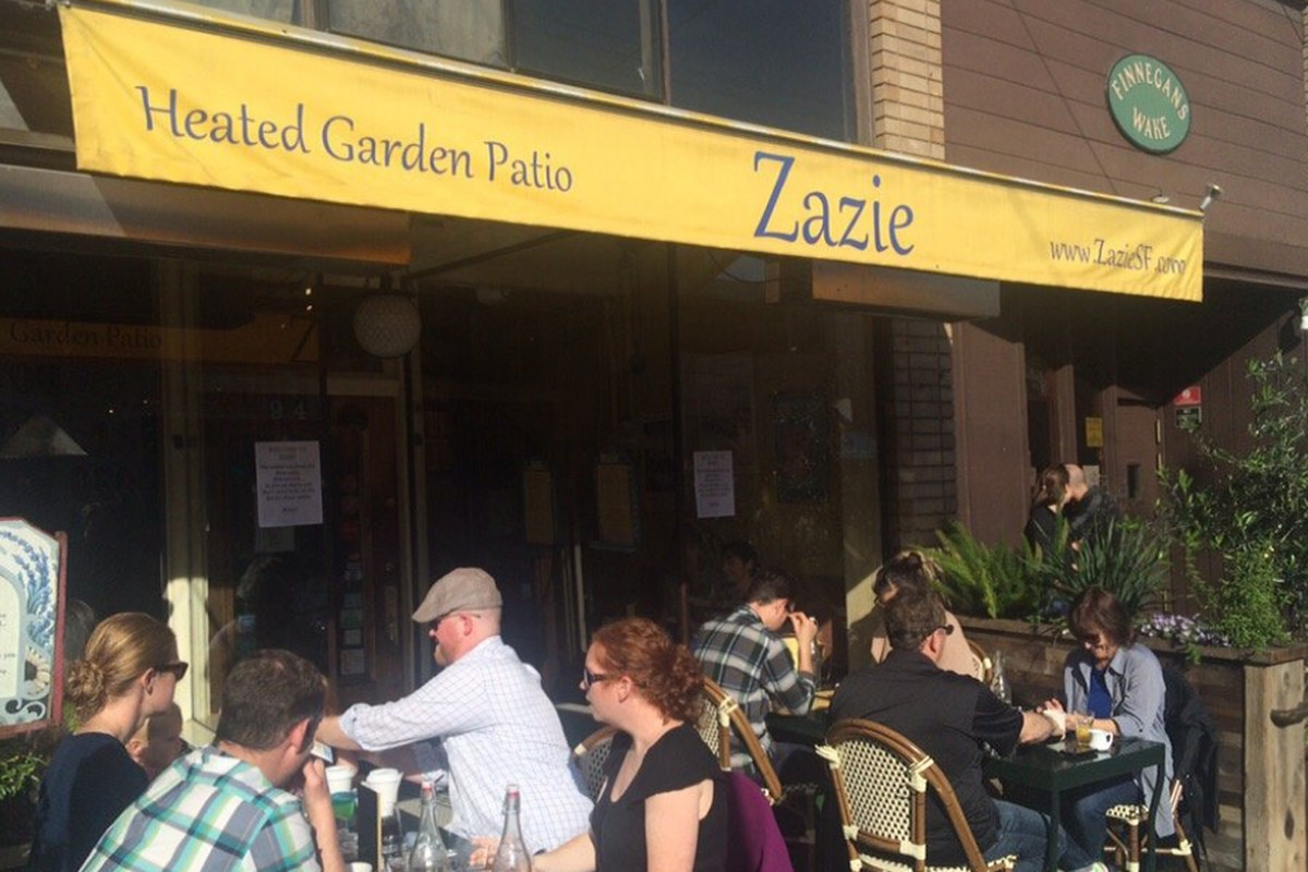 Zazie during the brunch rush