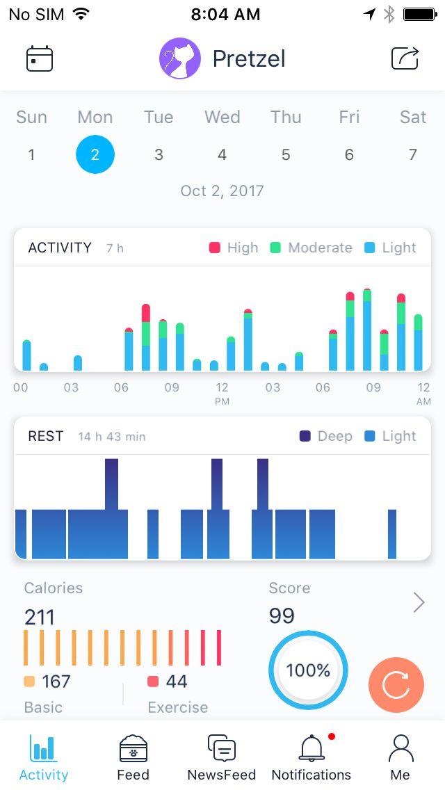 Poof pet activity tracker app