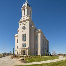 The exterior of the Cedar City Utah Temple.