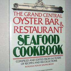 "The Oyster Bar cookbook via <a href=""http://www.ebay.com/itm/Grand-Central-Oyster-Bar-Restaurant-Seafood-Cookbook-/320704308505?pt=US_Nonfiction_Book&hash=item4aab776519"" rel=""nofollow"">eBay</a>"