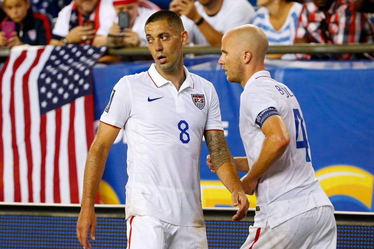 Michael Bradley (right) will be key against Cuba for the USA