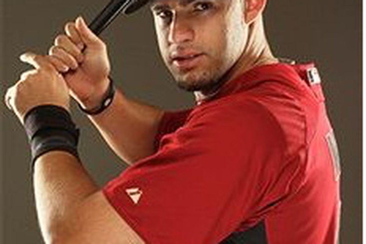 Houston Astros prospect J.D. Martinez (Photo by Al Bello, Getty Images)