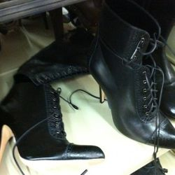 Gianvito Rossi for Altuzarra lace-up cut-out booties and boots. Nice.