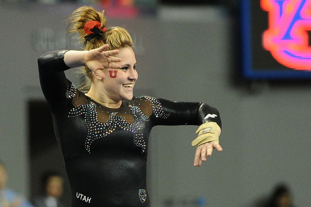 Senior Becky Tutka returns to lead her Utah gymnastics squad in defense of their Pac-12 title.