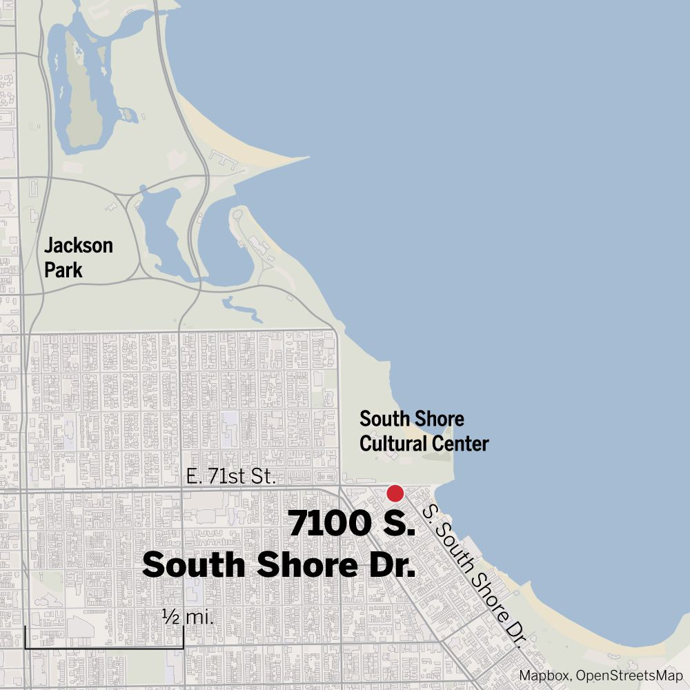 Map of 7100 S. South Shore Dr.