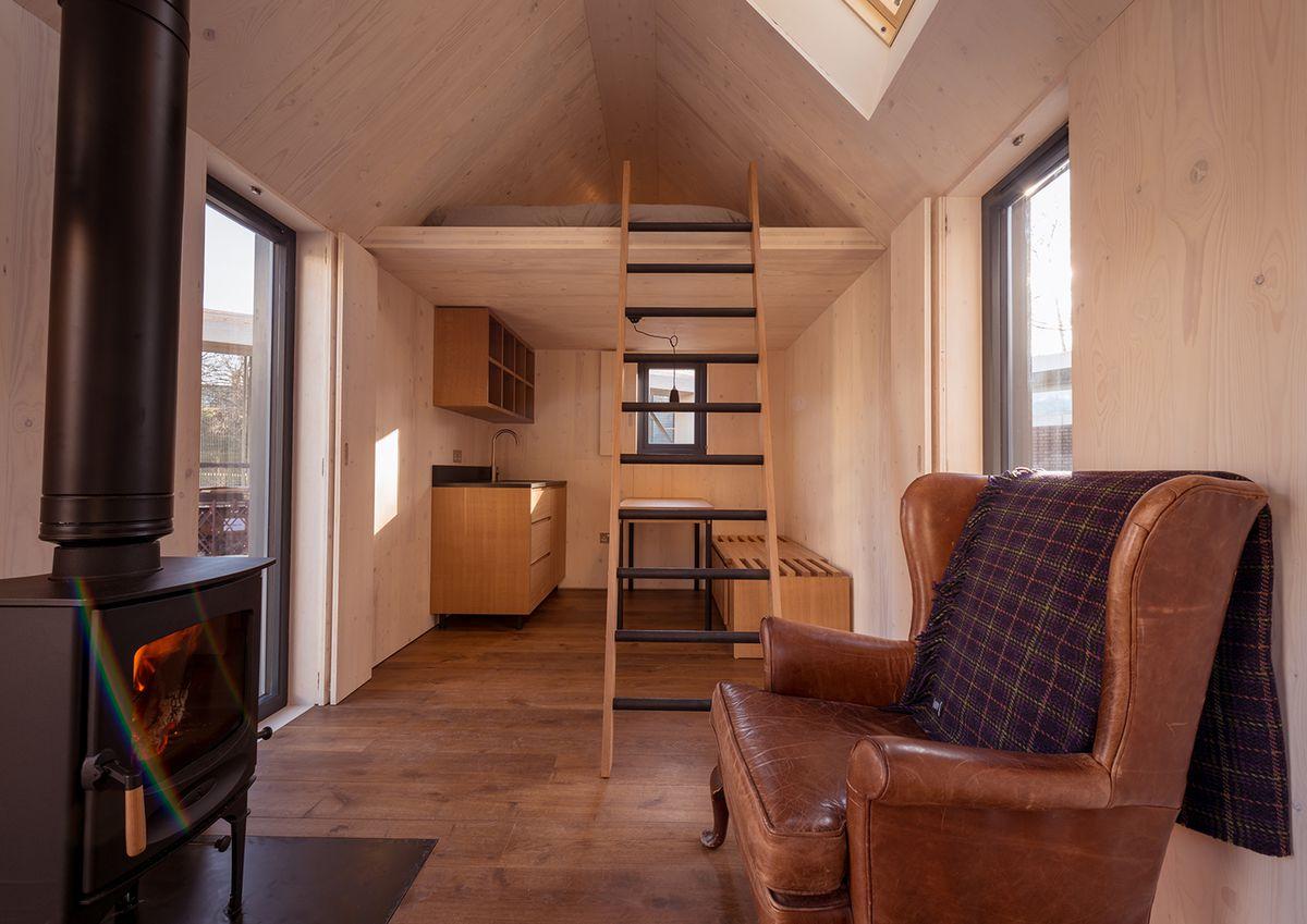 Interior of small cabin