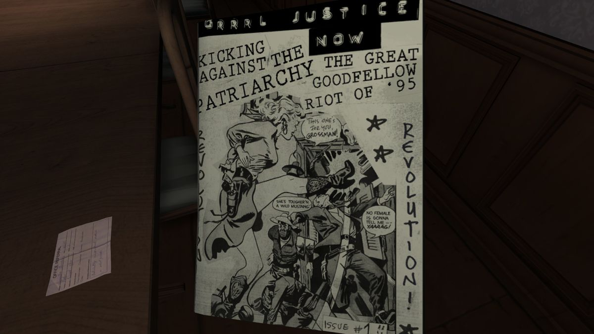 A zine in Gone Home.