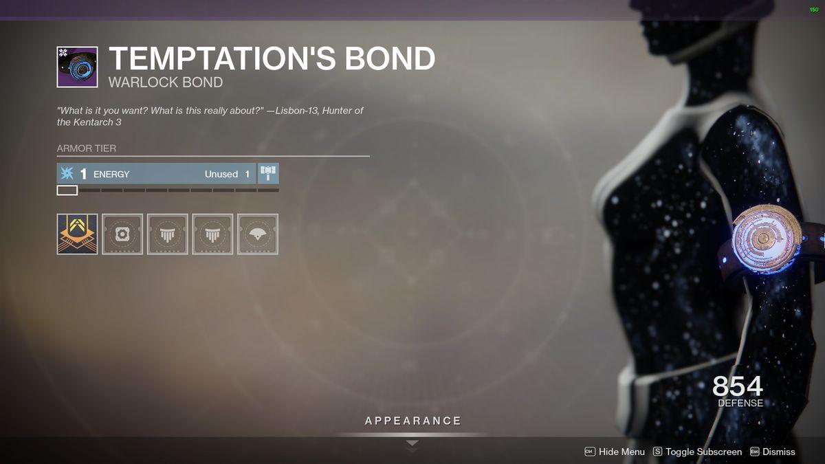 Destiny 2's Temptation's Bond