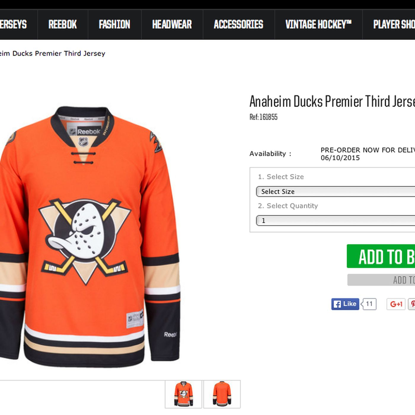 low priced ffa9a ab661 It's Official: Anaheim Ducks New 2015-16 Third Jersey Leaks ...