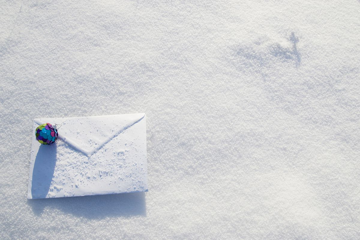 Letter in snow