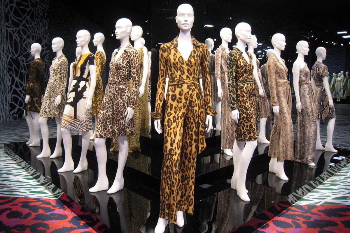 """The DVF exhibit at LACMA this year; photo via Shopping for the Real You/<a href=""""https://www.facebook.com/shoppingfortherealyou"""">Facebook</a>"""