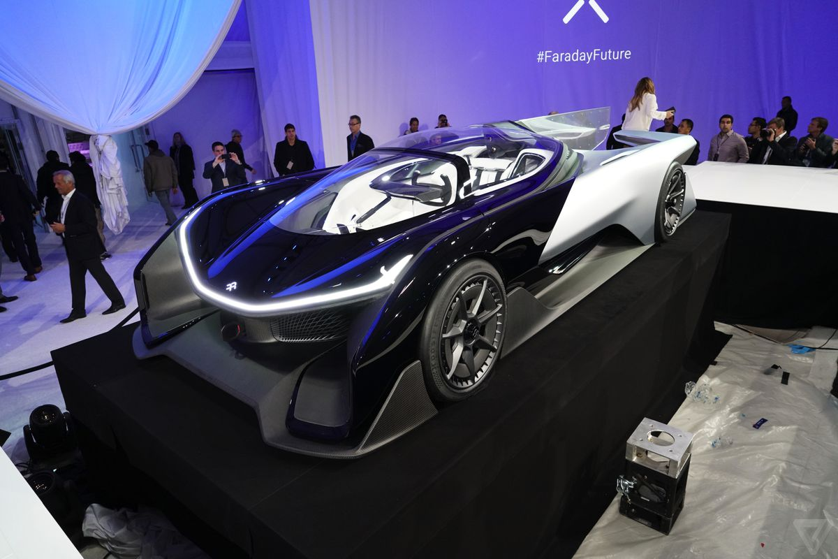Faraday Future S Concept Car At Ces 2016