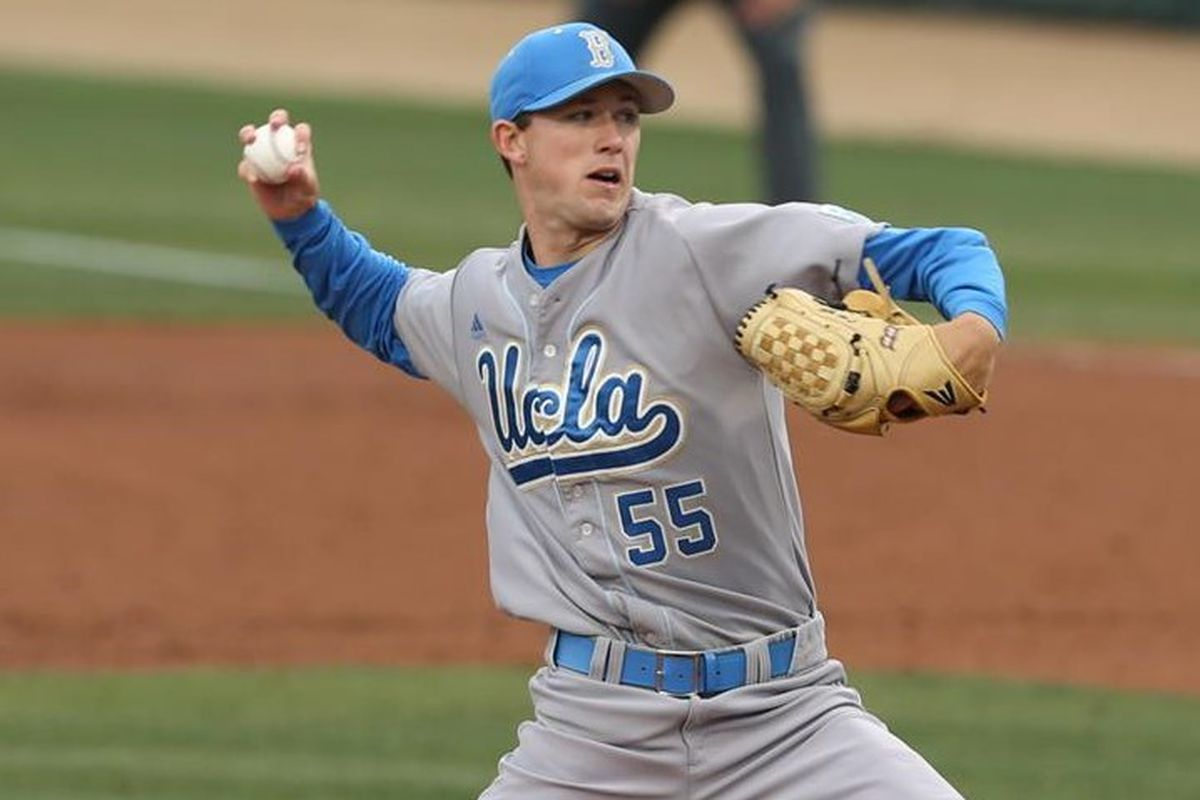 UCLA Ace Griffin Canning sporting the best uniform in baseball.