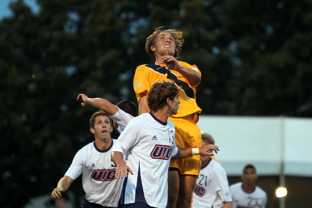 Axel Sjoberg rises above UIC and the rest of the Big East as the best defensive player in the league.