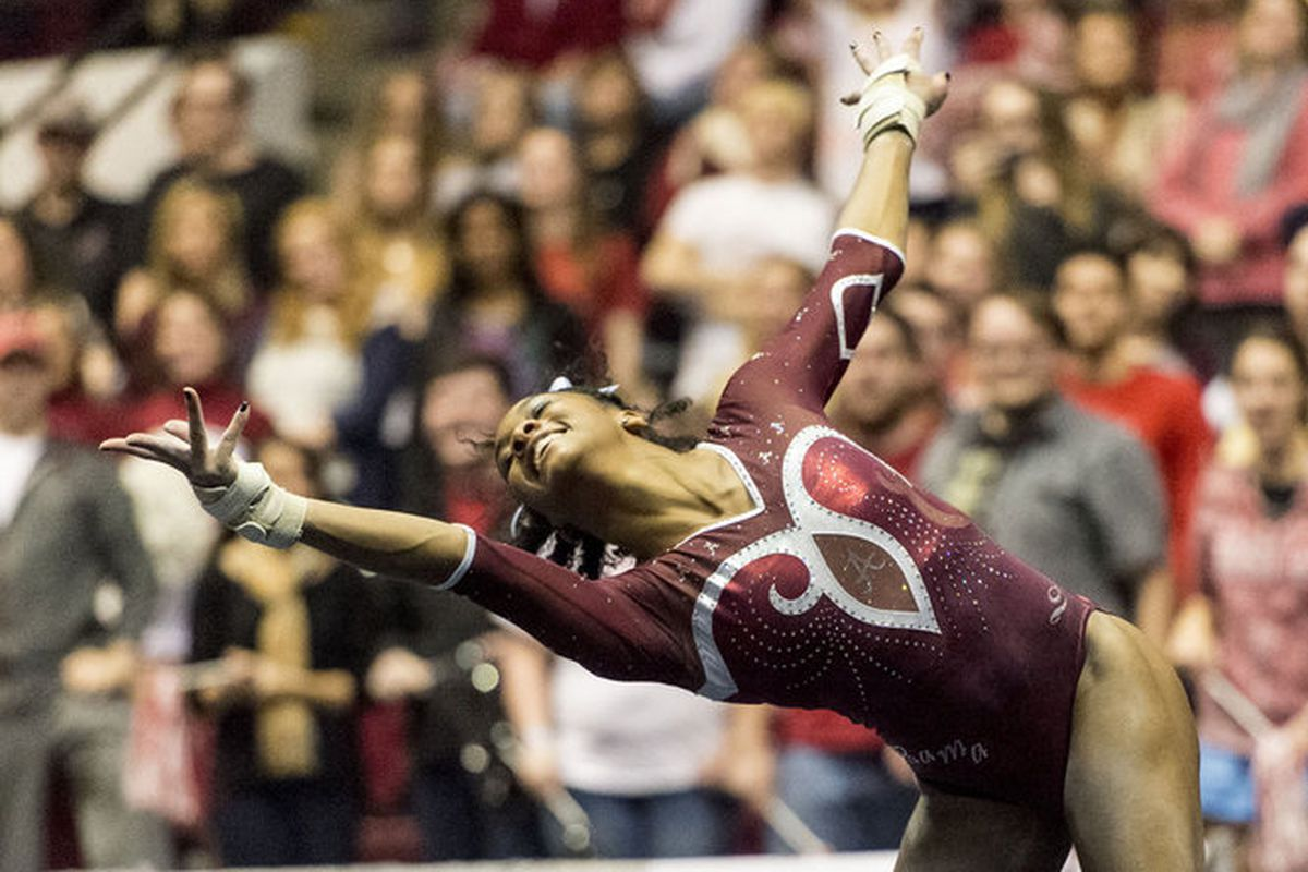 Even though Alabama lost, Carly Sims' excelled as usual on the Floor Excercise.