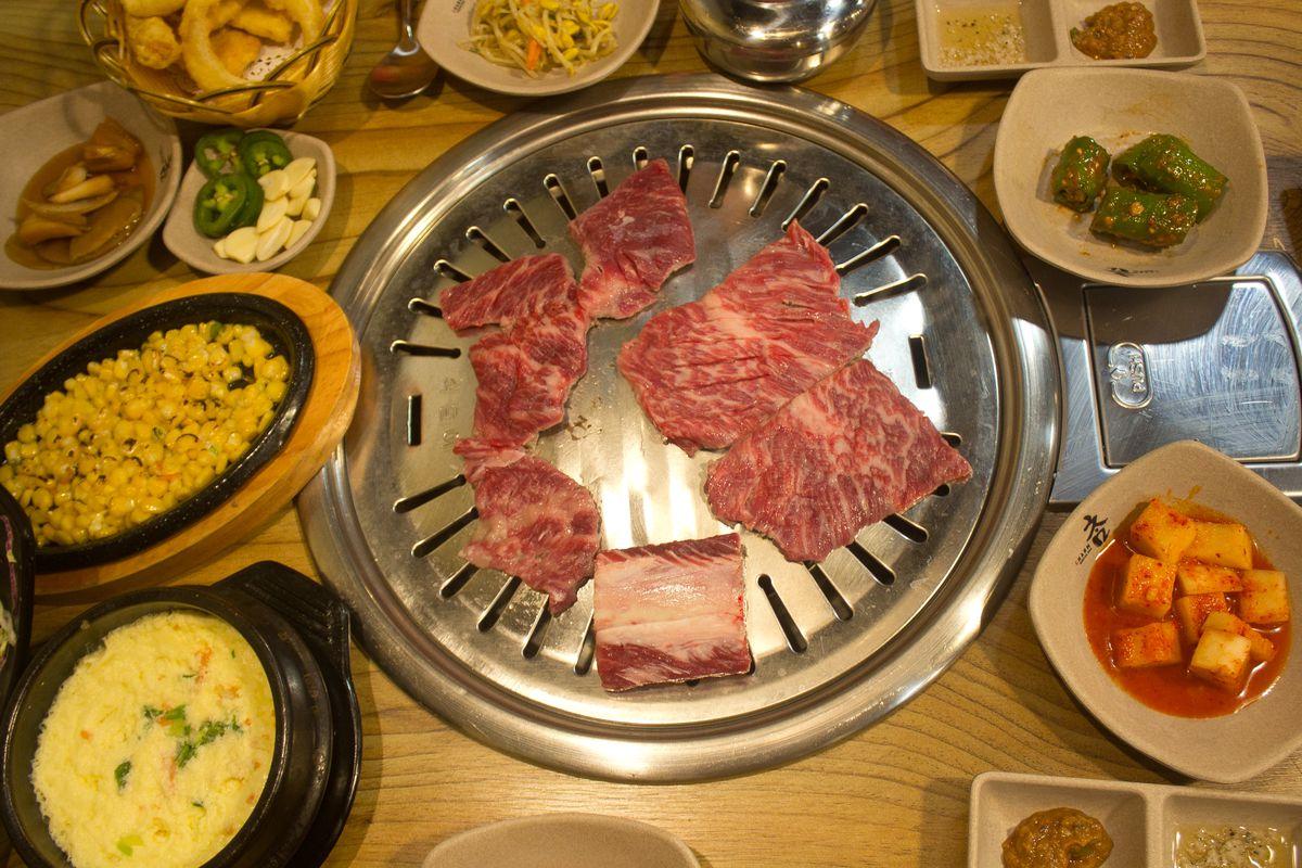 Charm Korean BBQ's setup