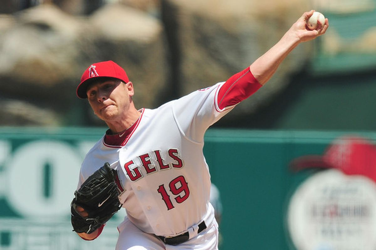 This is what Scott Kazmir looked like in 2010 when he pitched for the Angels.
