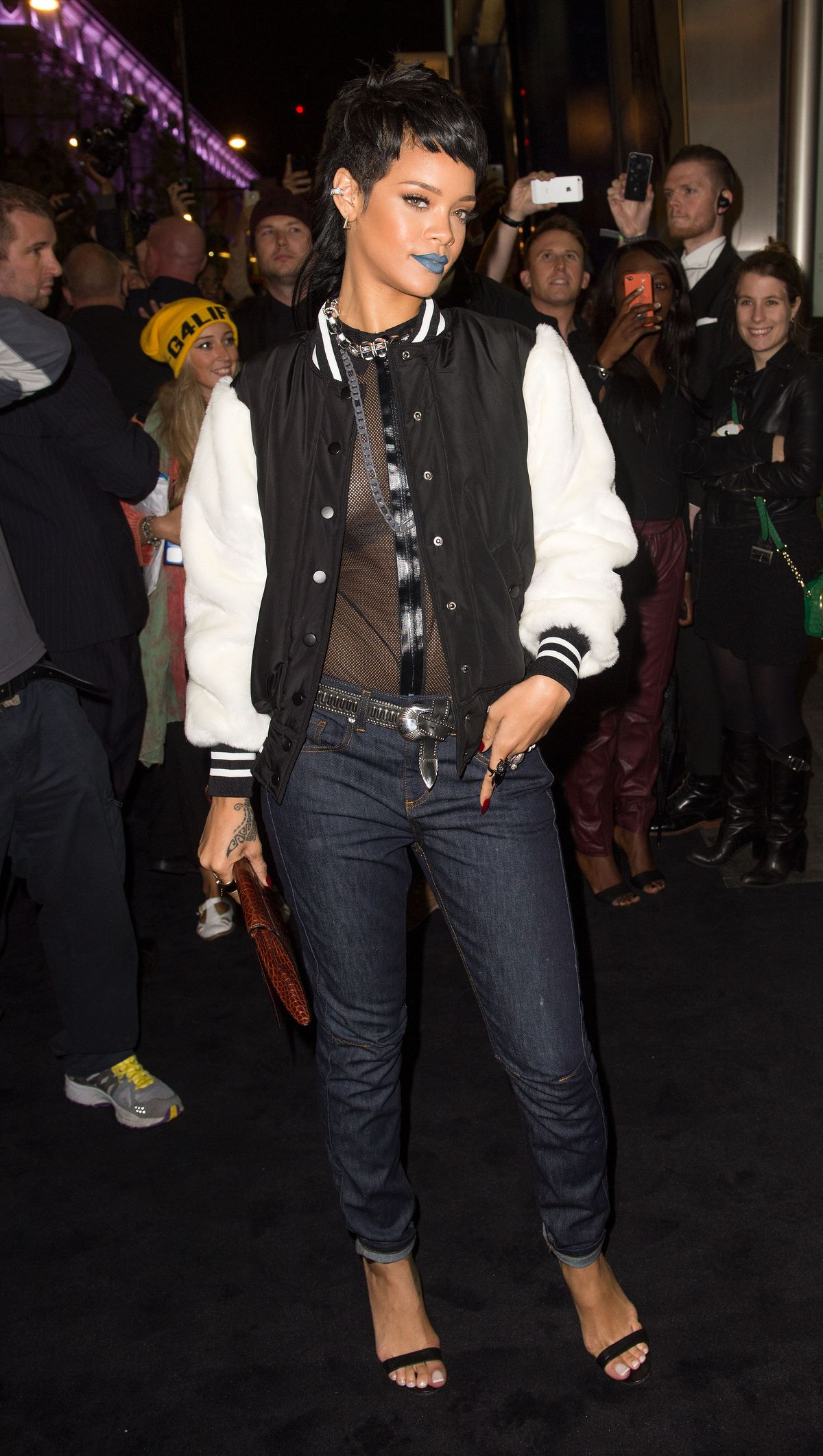 Rihanna at her River Island launch in London in 2013.