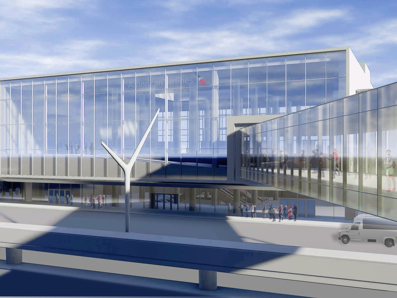 American Airlines plans to build a connection to the airport's future people mover system.