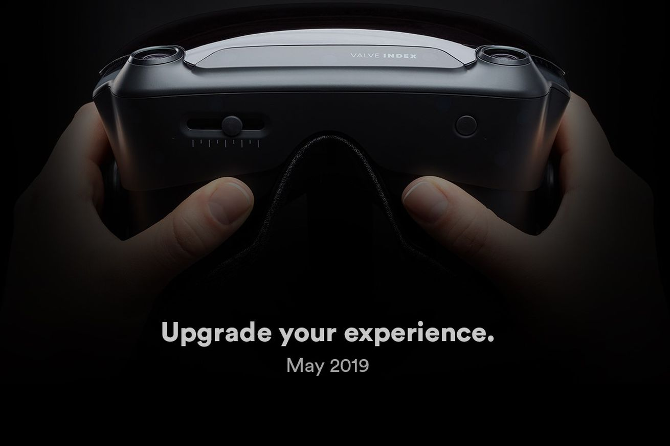 The upcoming Valve Index virtual reality headset.