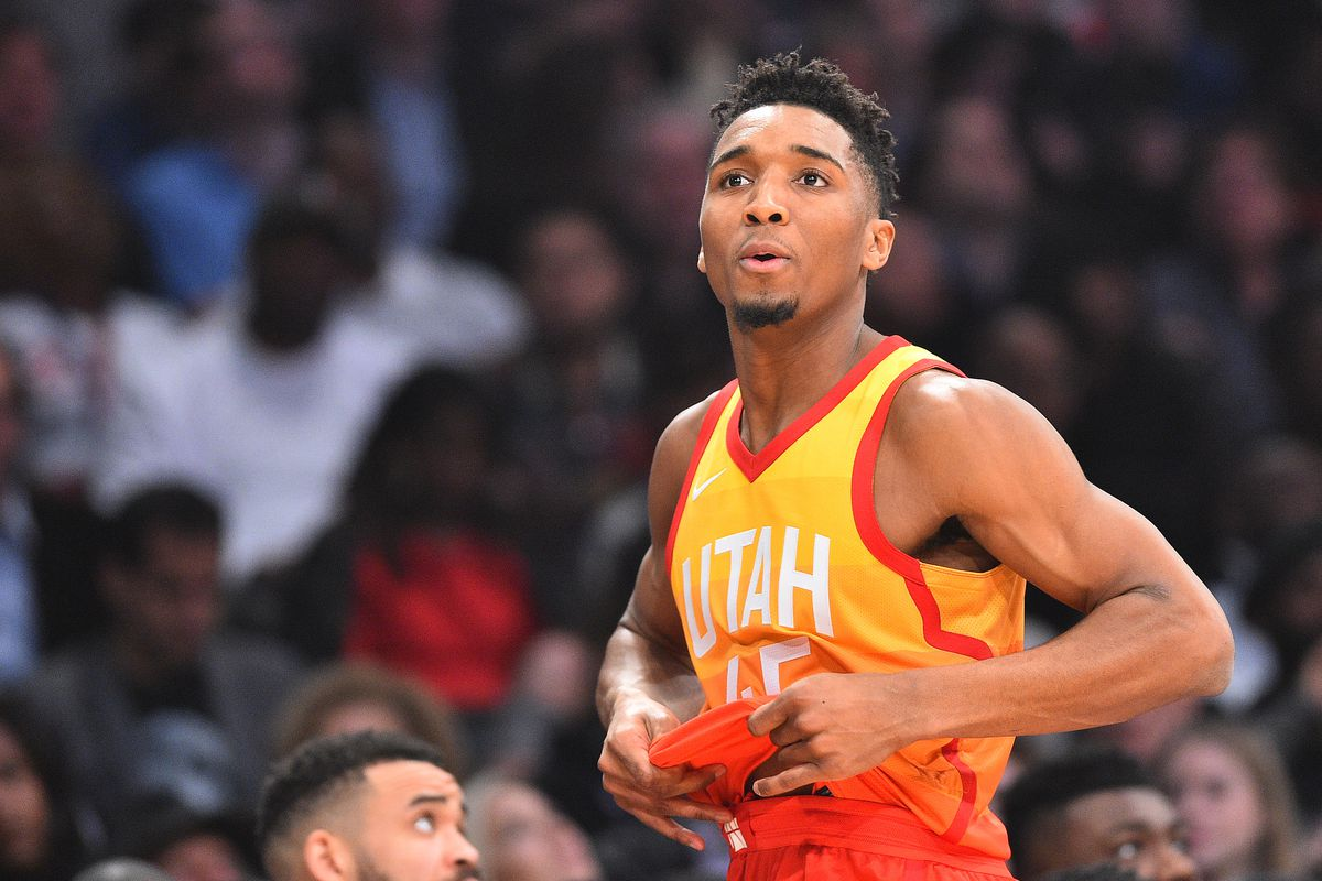 Bob Donnan-USA TODAY Sports. MIKE PRADA  Donovan Mitchell won the 2018 Slam  Dunk Contest ... 73cb648cf