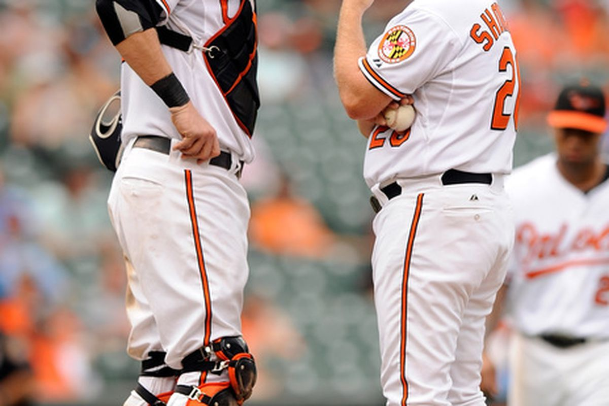 So, Skip, Kevin's looking spent. I hear Chris Tillman's doing good things in Norfolk. Just sayin'. (Photo by Greg Fiume/Getty Images)