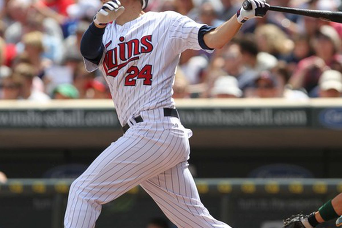 Apparently all Trevor Plouffe does is hit home runs. And all we do is love him for it. Mandatory Credit: Brace Hemmelgarn-US PRESSWIRE