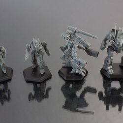 An Inner Sphere Command Lance, including a Marauder, Archer, Valkyrie, and a Stinger. Retail is $19.99.