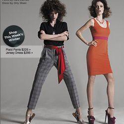 "<a href=""http://www.saksfifthavenue.com/editorial/FashionStar.jsp"">Fashion Star Plaid Pants by Kara Laricks</a>, $225 at Saks and <a href=""http://www.saksfifthavenue.com/editorial/FashionStar.jsp"">Fashion Star Jersey Dress by Orly Shani</a>, $295 at Saks"